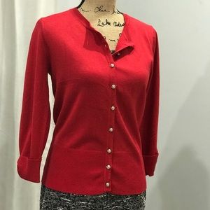 Audrey and Grace red cardigan size M